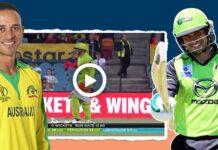 Batsman strips to replace abdomen guard in BBL match