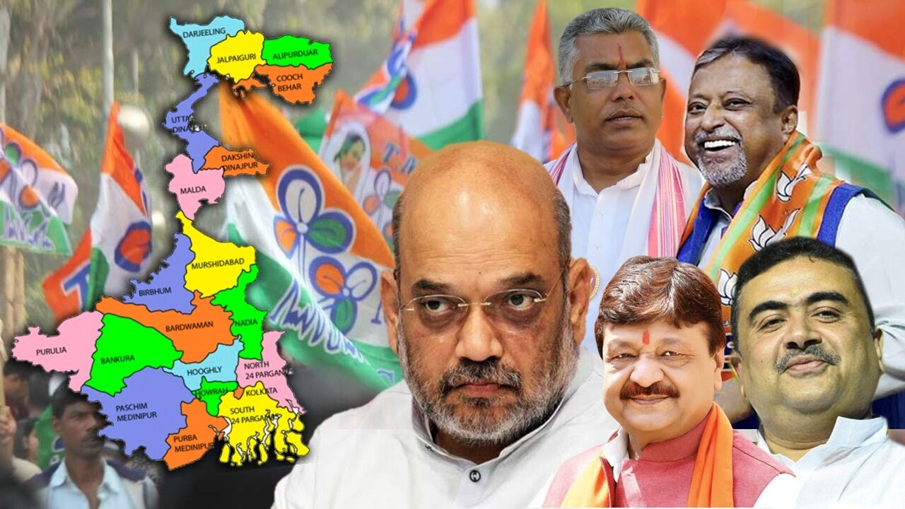 Amit Shah with West Bengal BJP Leaders