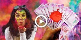 How to Remove Holi Colour From Note