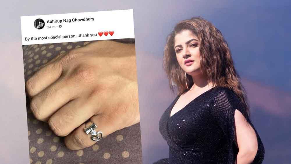 Srabanti Chatterjee Gifted a New Ring to her New Boyfriend Abhirup Nag Chowdhury