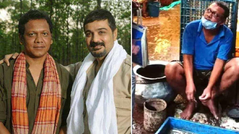 Tollywood Actor Srikanta Manna Selling Fish due to Lockdown