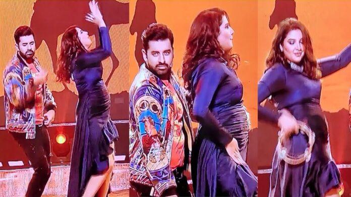 Subhasree Ganguly Dancing with Ankush Hazra on Dance Bangla Dance