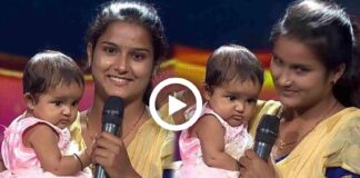 A Mother Gave Audition on SaReGaMaPa Holding Her Baby on Her Lap