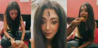 Devlina Kumar Trolled for Eating Pizza as Maa Durga