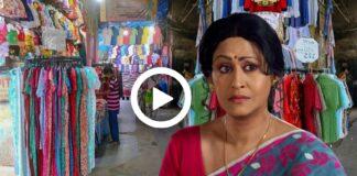 Shreemoyee Actress Indrani Haldar Did Her Puja Shooping from Gariahaat Footpath