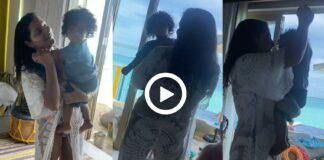 Subhasree Ganguy Shared a Video Dancing with Her Son