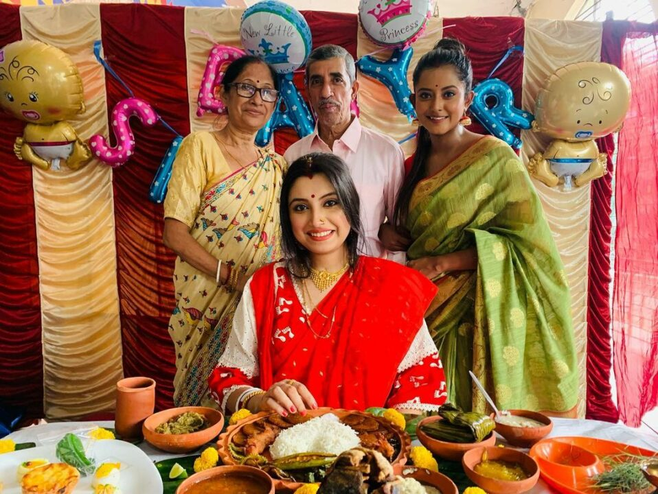 Tanushree Bhattacharjee Baby Shower Ceremony Photo Album